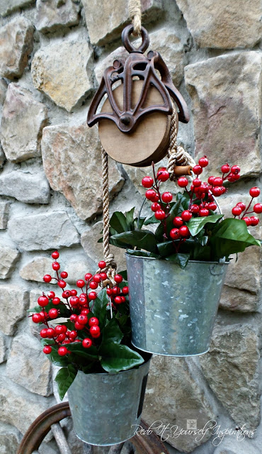 Bucket and Pulley planter