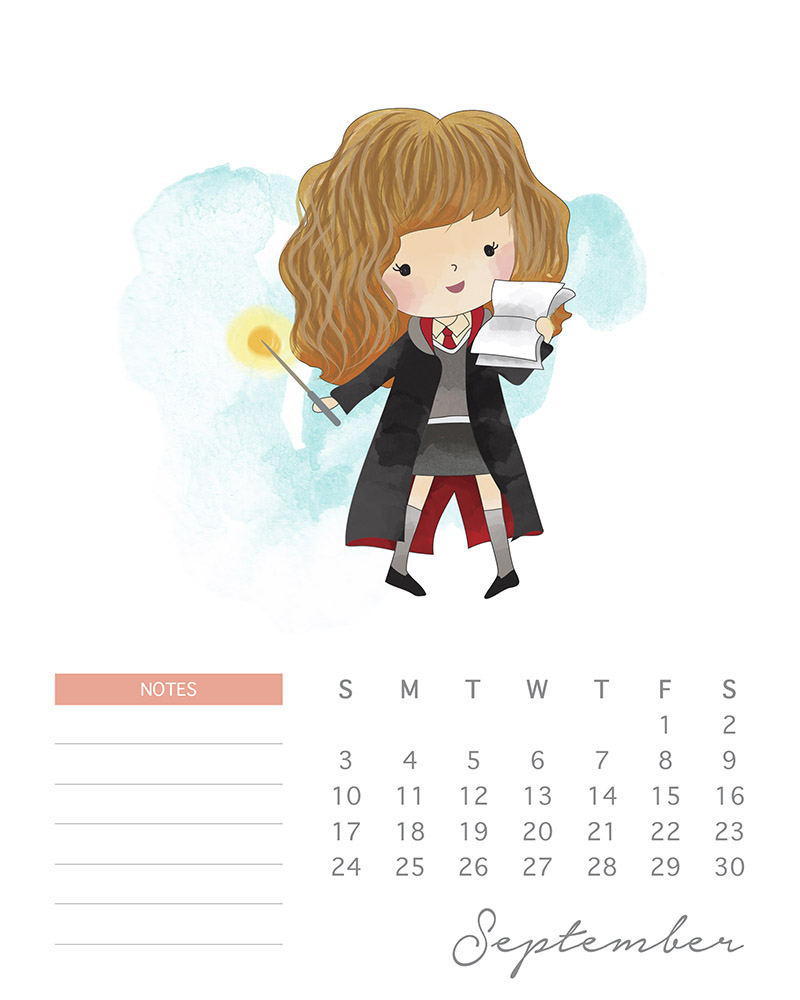 Hermione Granger - Harry Potter Calendar - September 2017