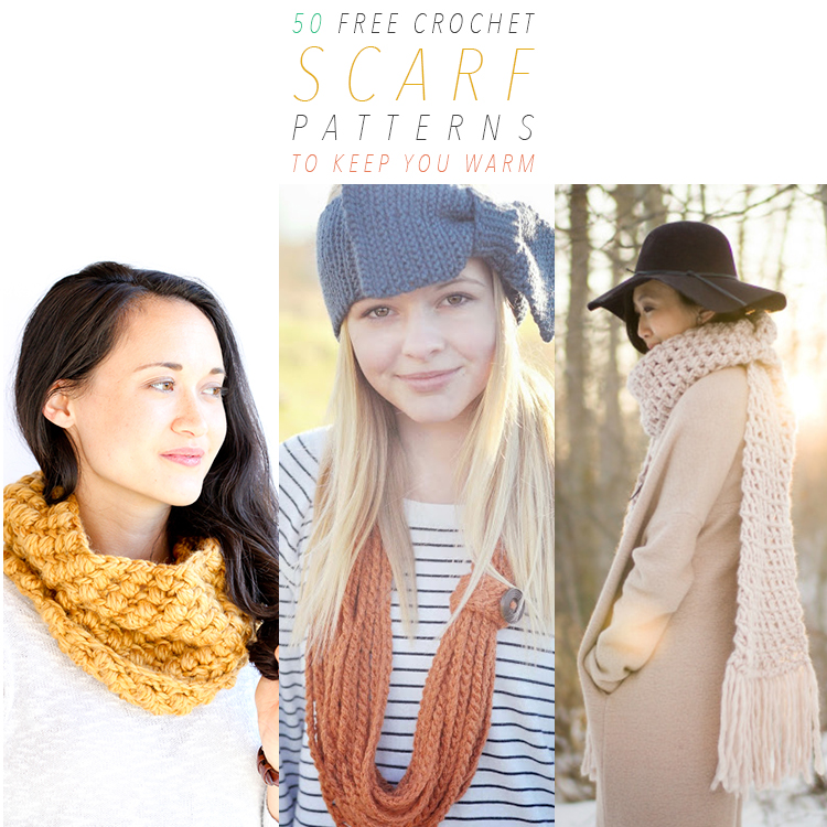 50 Free Crochet Scarf Patterns To Keep You Warm