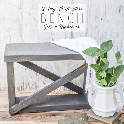 A Tiny Thrift Store Farmhouse Bench Gets a Makeover