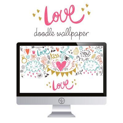 Free Love Doodle Wallpaper