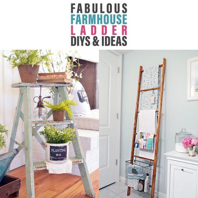 Fabulous Farmhouse Ladder DIYS and Ideas