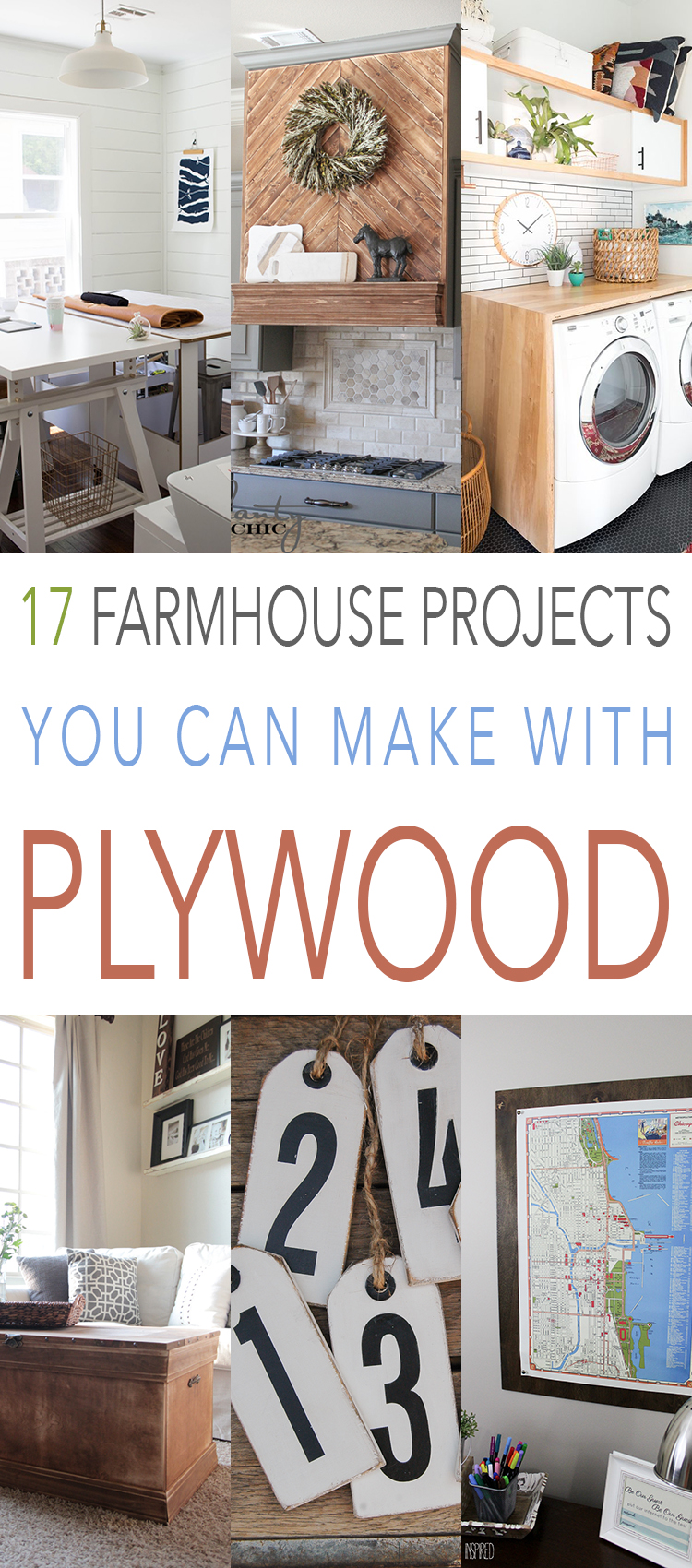 These farmhouse projects made with plywood are so easy.