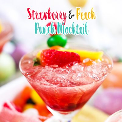 Strawberry and Peach Punch Mocktail