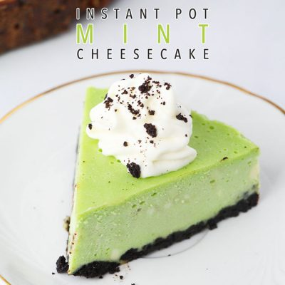 Instant Pot Mint Cheesecake