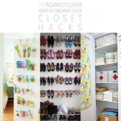 19 Insanely Clever Ways to Organize Your Closet Hacks.