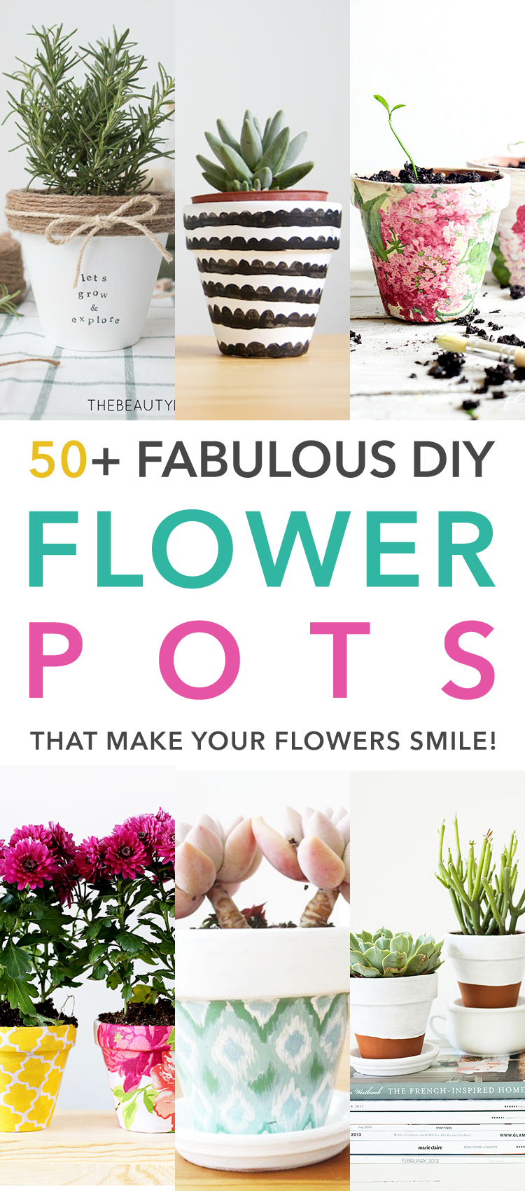 50 Fabulous Diy Flower Pots That Make Your Flowers Smile The