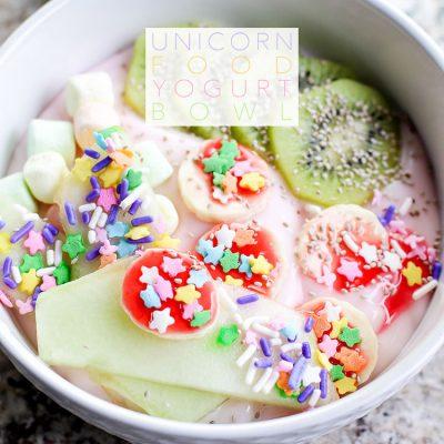 Unicorn Food Yogurt Bowl