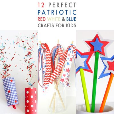 12 Perfect Patriotic Red White and Blue Crafts for Kids