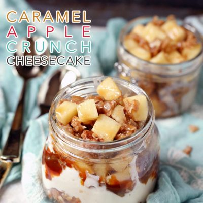 Caramel Apple Crunch Cheesecake