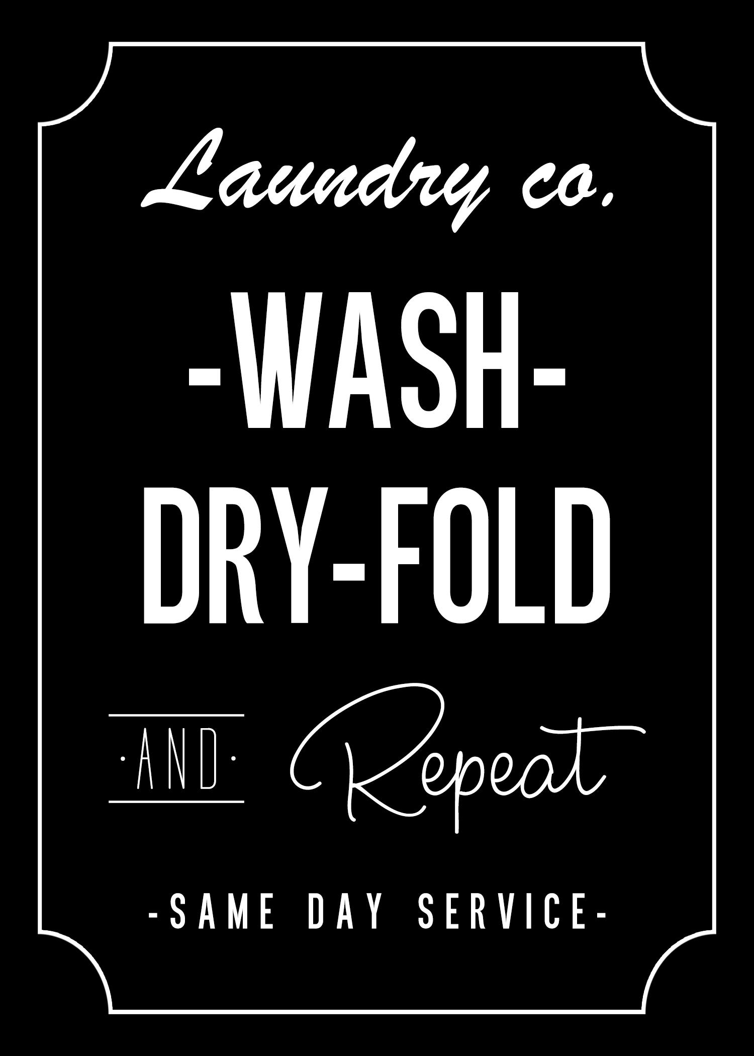 Free Printable Laundry Room Wall Art