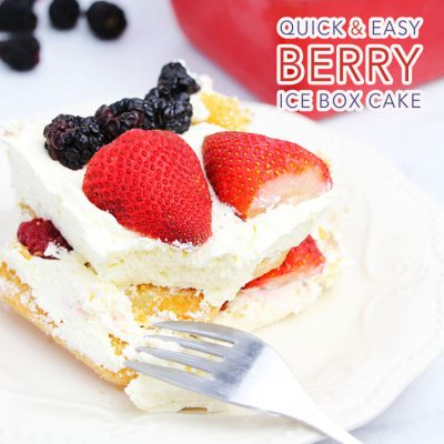 Quick and Easy Berry Ice Box Cake
