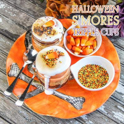 Halloween S'mores Trifle in Mason Jars