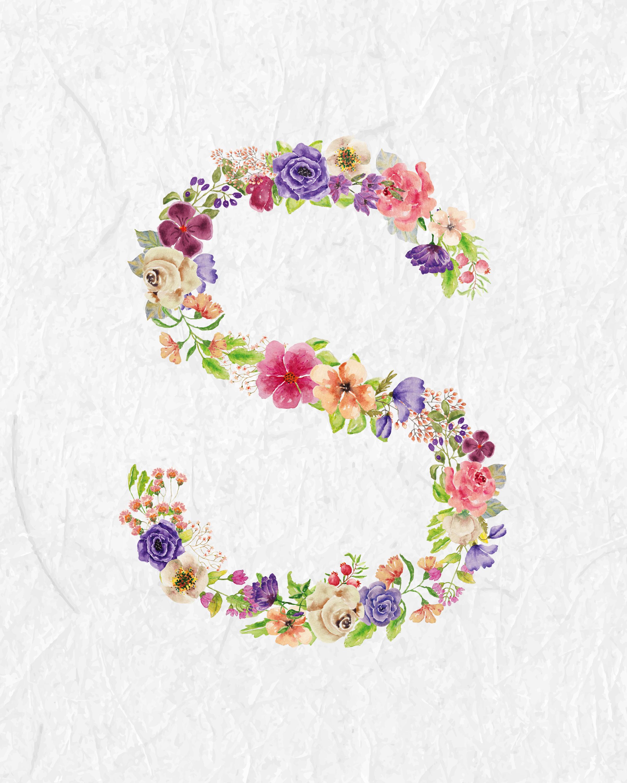 Free Printable Floral Monograms