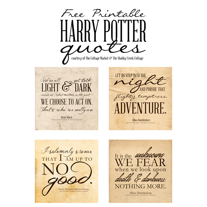 Harry Potter Printables - Movie Quotes