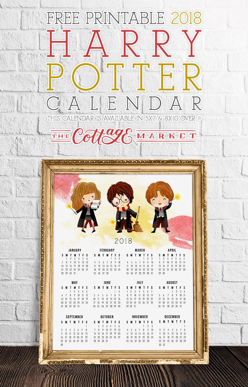 Full Page Harry Potter Calendar