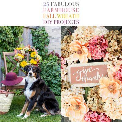 40 Fabulous Farmhouse Fall Wreath DIY Projects