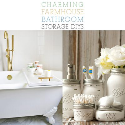Charming Farmhouse Bathroom Storage DIYS