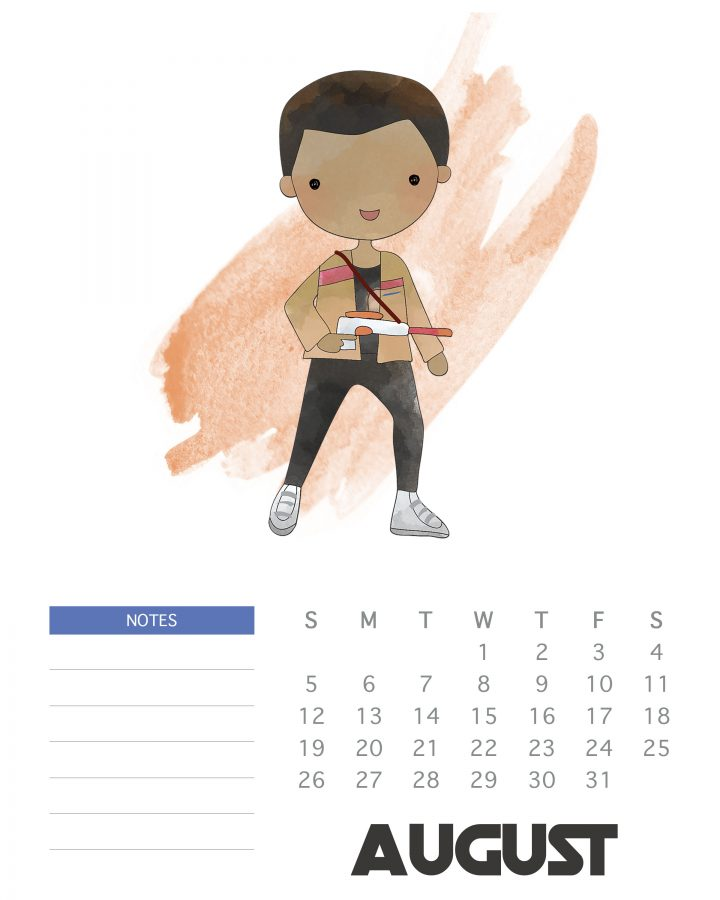 Free Printable Star Wars Calendar - August 2018