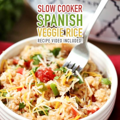 Slow Cooker Spanish Veggie Rice /// Recipe Video Included!
