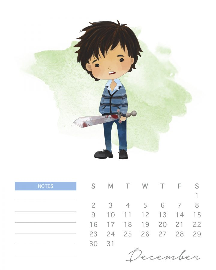 Nevil is here to save the day in out new Harry potter character calendar