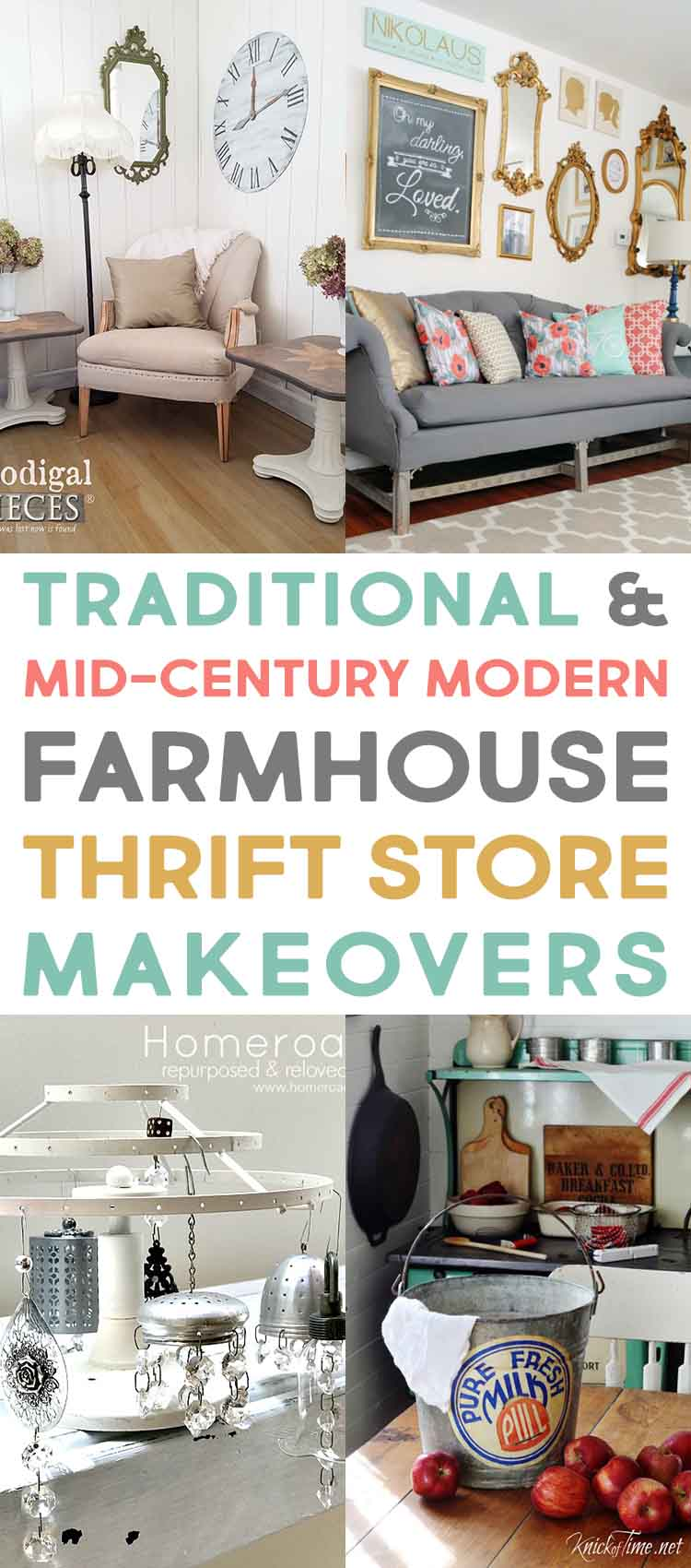 Check out these thrift store makeovers for traditional and mid-century modern inspiration.