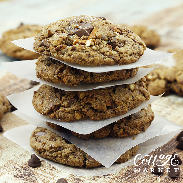 these soft, gooey, sweet, and salty chocolate chip cookies are the best cookies ever