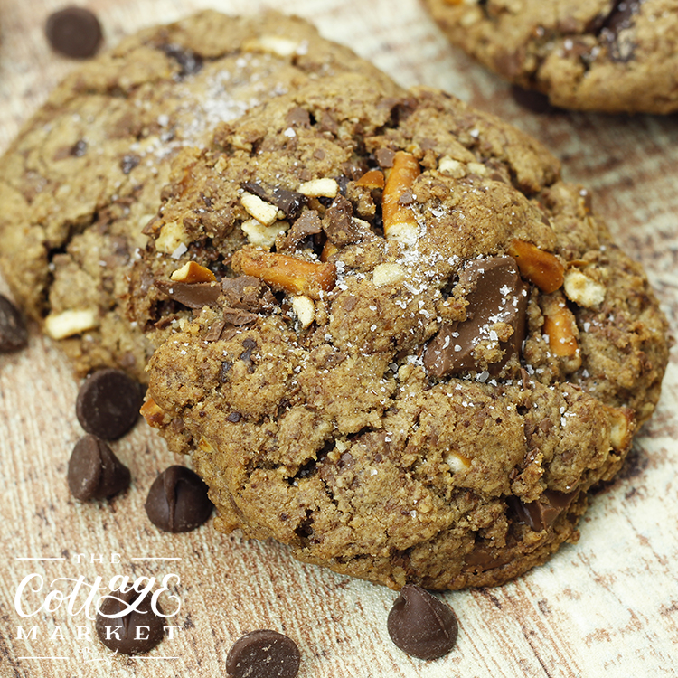 the combination of salty pretzel pieces and sweet chocolate make these cookies irresistible!