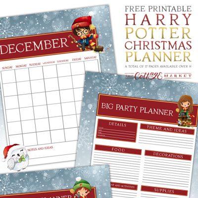 Free Printable Harry Potter Christmas Planner