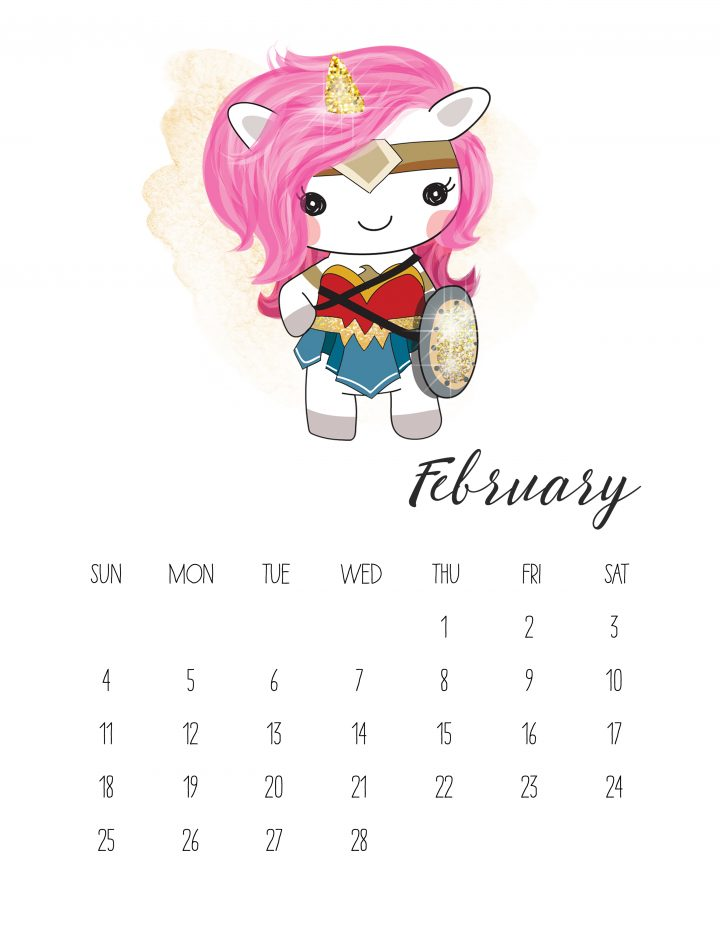 Wonder Woman unicorn-style is the face of February