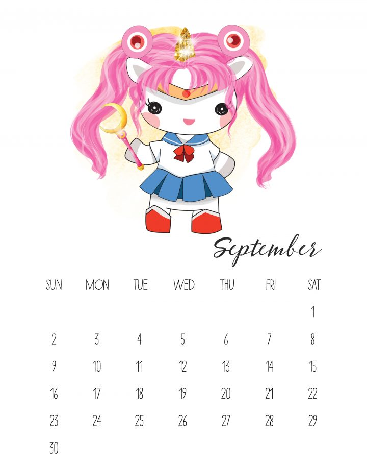 Unicorn Sailor Moon is the face of September