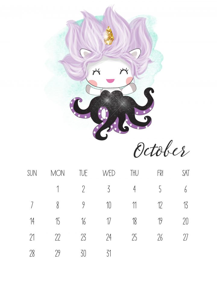 Unicorn Ursula isn't evil in this October page