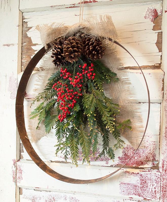 Wonderful Diy Farmhouse Christmas Wreaths The Cottage Market