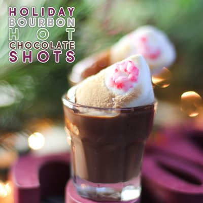 Holiday Bourbon Hot Chocolate Shots