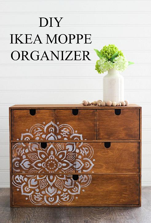 The unique DIY design in this IKEA moppe hack is so easy to recreate