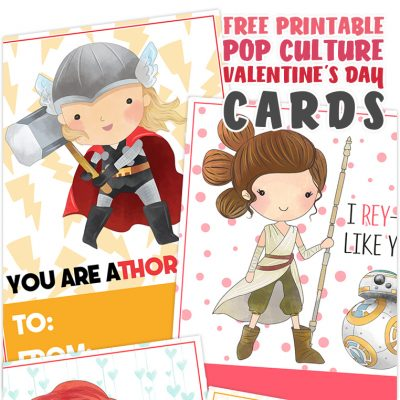 Free Printable Pop Culture Valentine's Day Cards