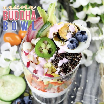 Unicorn Buddha Bowl Cup A Healthy Delight!