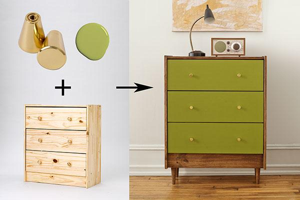 Some paint and hardware took this IKEA Rast dresser to a whole new level - love this IKEA hack!