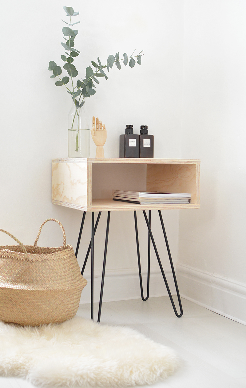 This super simplistic nightstand is a great IKEA hack. Such a simple design that looks amazing in any room