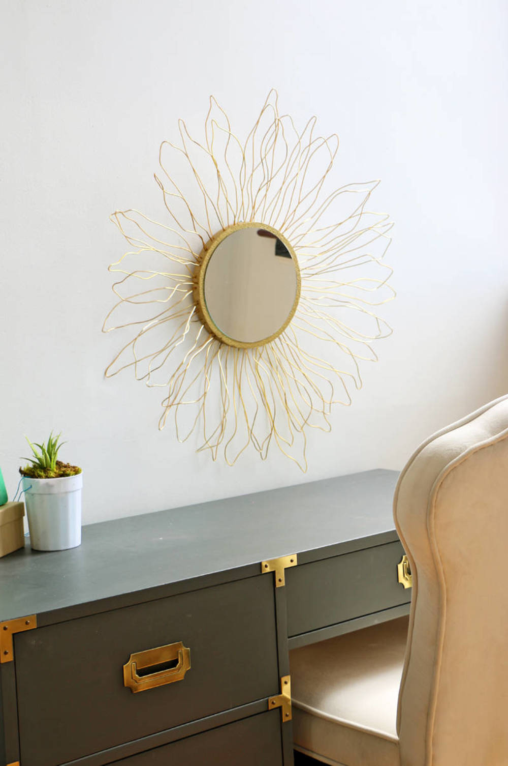 This starburst mirror is such a lovely contemporary design that looks great in any room for a little added flare