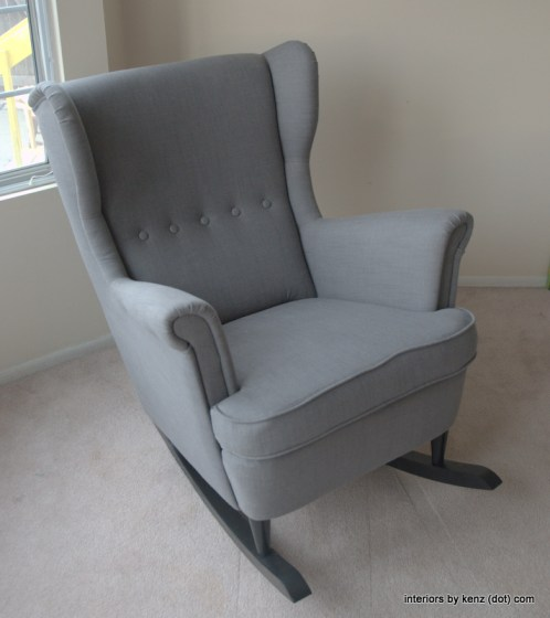 A modern rocking chair? Love with IKEA chair hack - the color is so simple and easy to style around