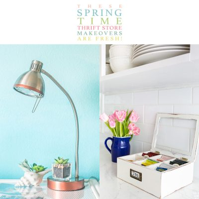 These Spring Time Farmhouse Thrift Store Makeovers are FRESH!
