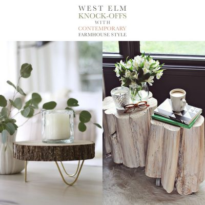 West Elm Knock Offs with Contemporary Farmhouse Style
