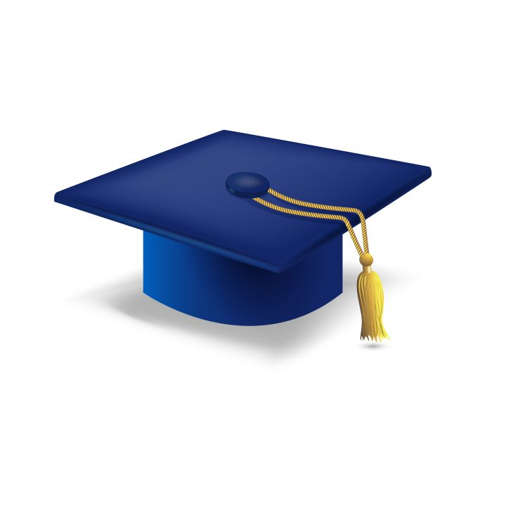 Graduation White and Black Guest Book with Pen Grammar High School College Keepsake Gift