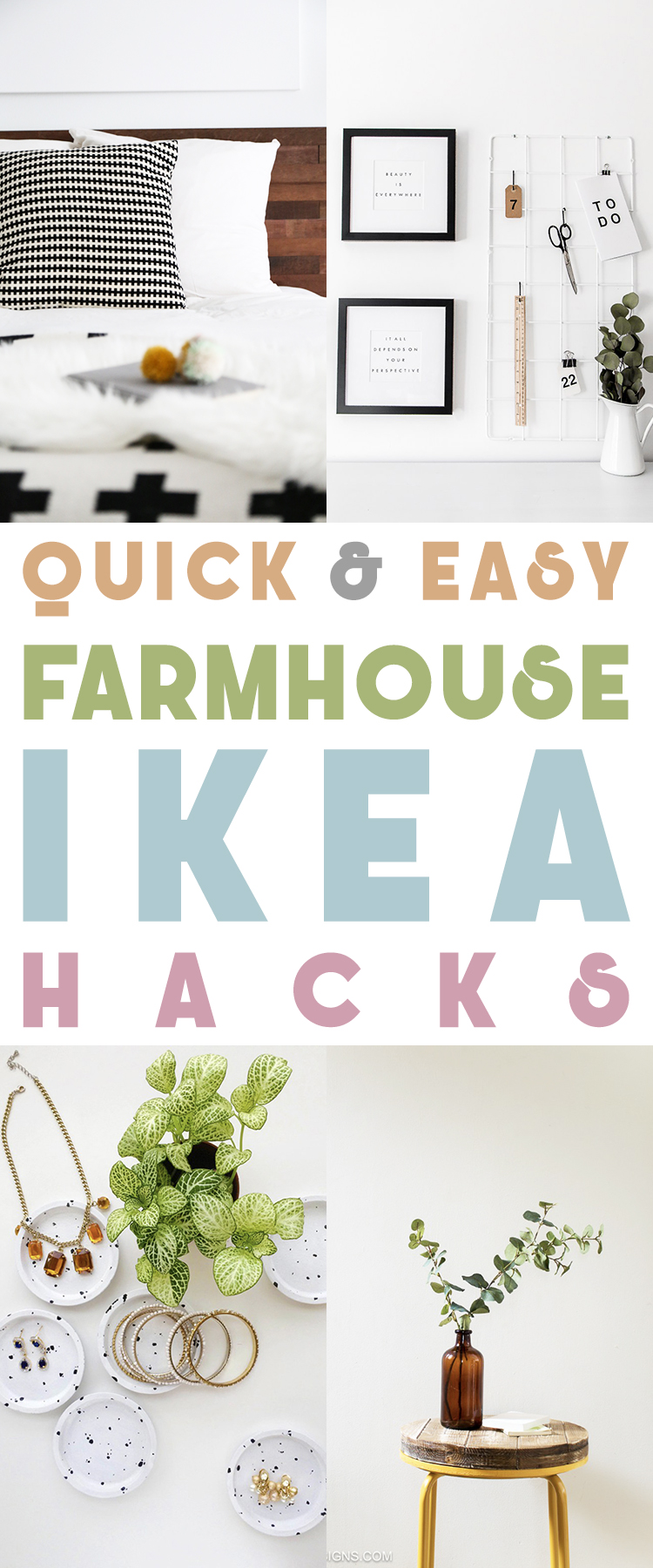 Quick and Easy Farmhouse Ikea Hacks