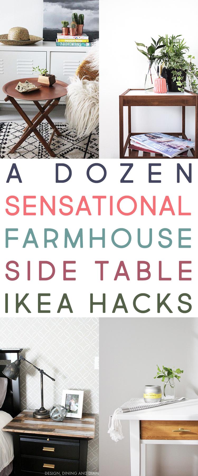 12 IKEA Side Table and IKEA Dresser Makeovers