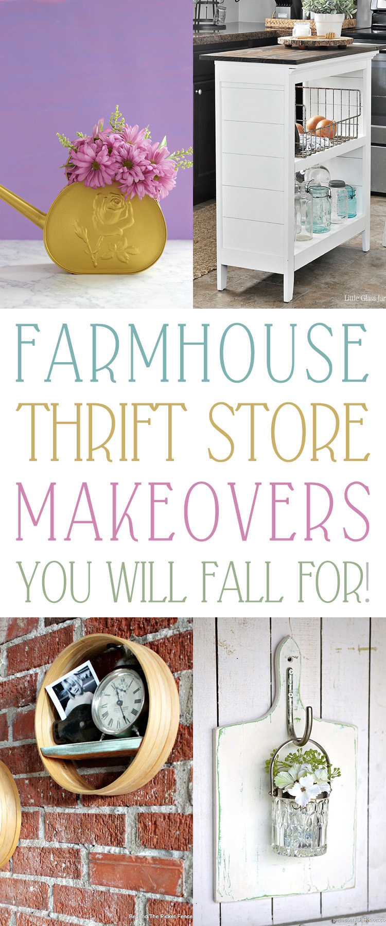 These thrift store makeovers make great additions to any farmhouse.
