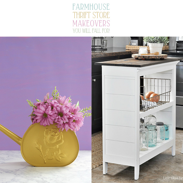 This one of a kind thrift store makeovers are creative and fun.