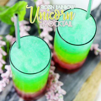 Frozen Rainbow Unicorn Mocktail