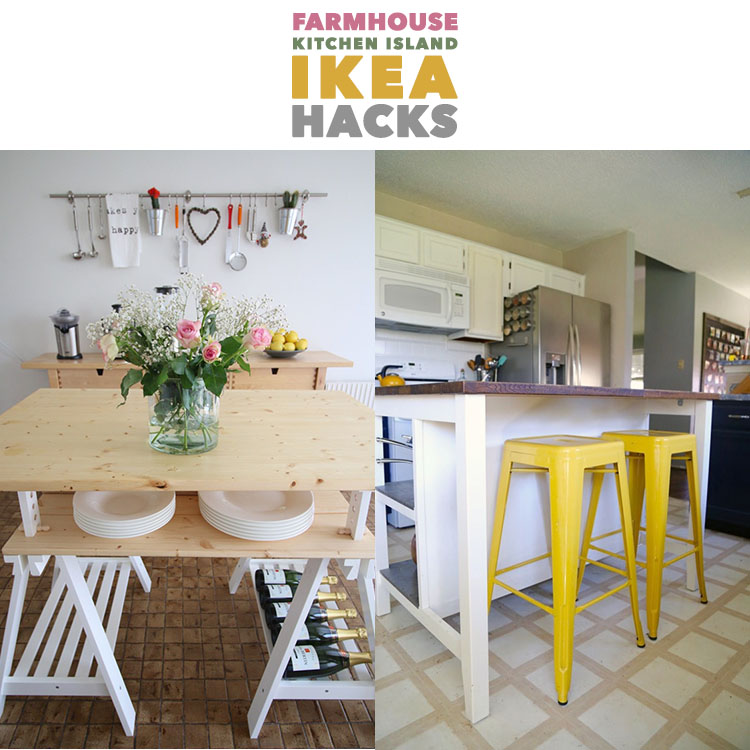 Farmhouse Kitchen Island Ikea Hacks The Cottage Market